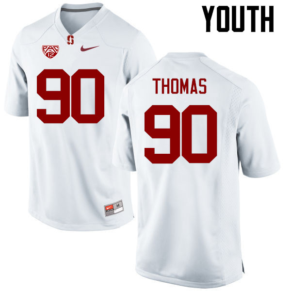 Youth Stanford Cardinal #90 Solomon Thomas College Football Jerseys Sale-White